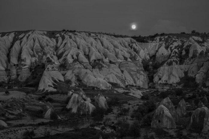 Moon over Cappadocia