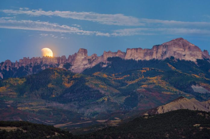 Moon Blended Image Horizon - moon photography