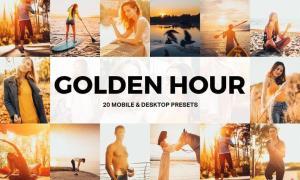 20 Golden Hour Lightroom Presets and LUTs