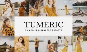 50 Tumeric Yellow Lightroom Presets and LUTs