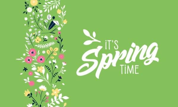 Spring banner D9SHRGY
