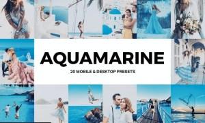 20 Aquamarine Lightroom Presets and LUTs