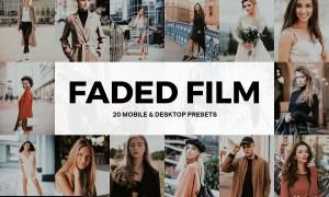 20 Faded Film Lightroom Presets LUTs 4857350