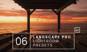 6 Landscape Pro Lightroom Presets + Mobile