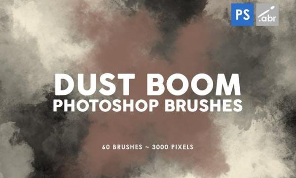 60 Dust Boom Photoshop Stamp Brushes KC5X8V9