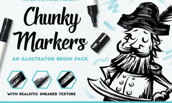 Chunky Markers - Illustrator Brushes MXEKFQJ