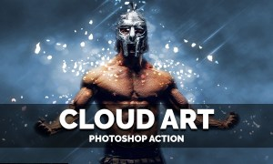 Cloud Art Photoshop Action 4028843