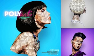 Low Poly Photoshop Action CS6+ 4563925