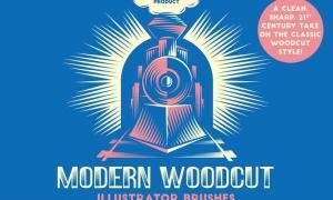 Modern Woodcut Brushes KF3K7D
