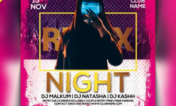 Remix night party flyer