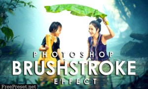 Vibrant Brushstroke Photoshop Action 3802594