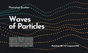 Waves of Particles Photoshop Brushes S57RZ2