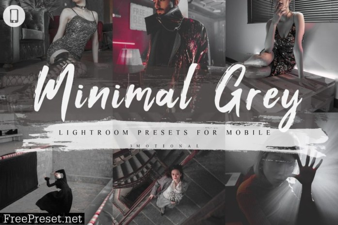 7 Minimal Grey Mobile Lightroom Presets 4231469