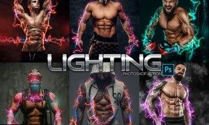 Lightning Power Photoshop Action Y4LQ6NF