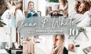 10 Clean & White Mobile Presets 5142951