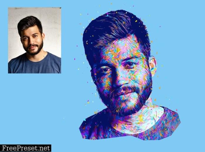 Abstract Art Photoshop Action J5KPLSM