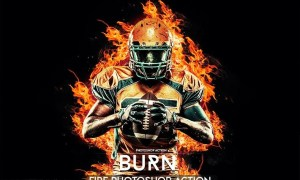 Burn Photoshop Action X6BVRST