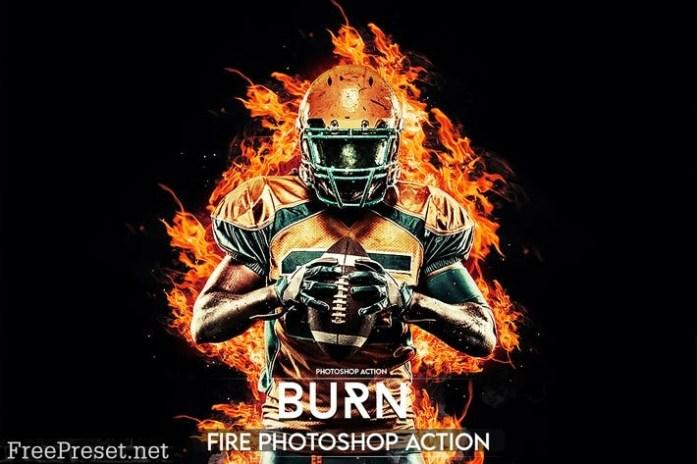 Burn Photoshop Action X6BVRST