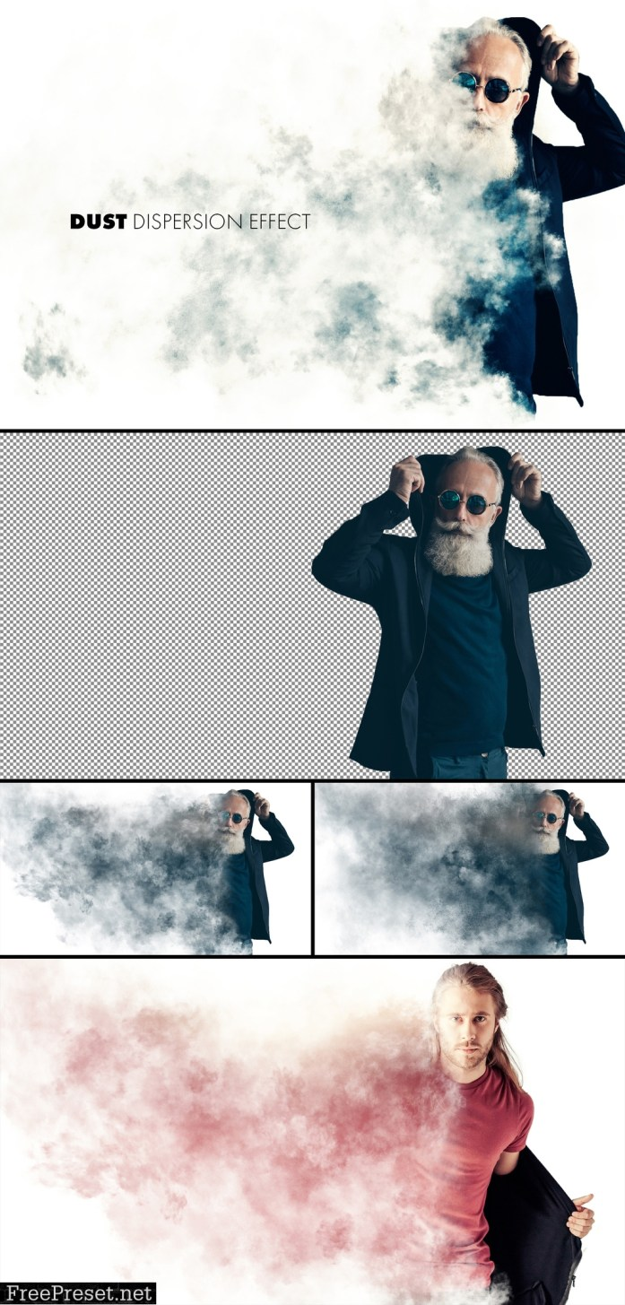 Dust or Smoke Dispersion Effect Mockup 364785470