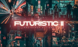 Futuristic Gen II Photoshop Actions 4MU2J5B