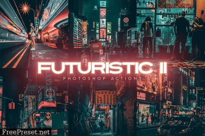 Futuristic Gen II Photoshop Actions 4MU2J5B