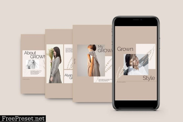 GROWN - Instagram POST & STORY Template Y5ZHY62