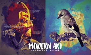 Modern Art Photoshop Action 4UVSCQP