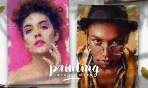 Painting Photoshop Action L4C9L4P