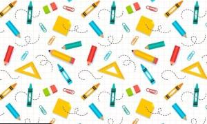 School Supplies Pattern Z7SFD8N