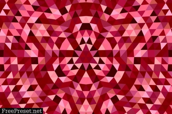 Triangle Mosaic Mandala Background