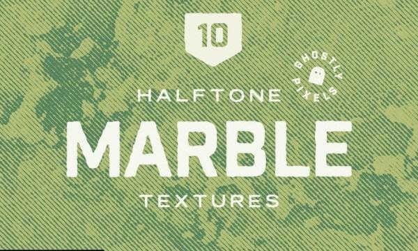 Vintage Halftone Marble Textures G3NMN6E