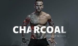 Charcoal Photoshop Action V3NG7WP