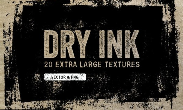 Dry Ink Textures - Vector & PNG YPQP9A8