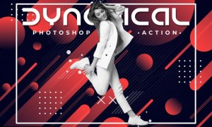 Dynamical Poster Photoshop Action K4QXWTA
