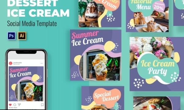 Ice Cream Social Media Template CU2Q9LM