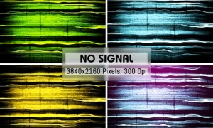 No Signal Grunge Backgrounds G9MJZDN