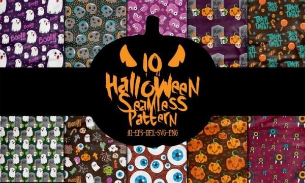 10 Halloween Seamless Patterns Vol. 2 GDRZ2JK