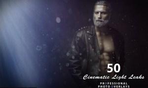 50 Cinematic Light Leaks Photo Overlays MPT88JT