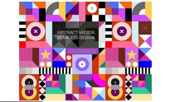 Abstract Seamless Geometric Design 482NEBS