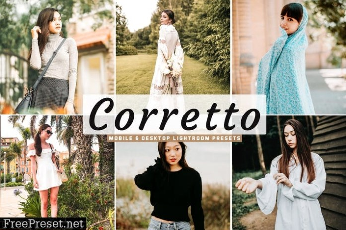 Corretto Mobile & Desktop Lightroom Presets