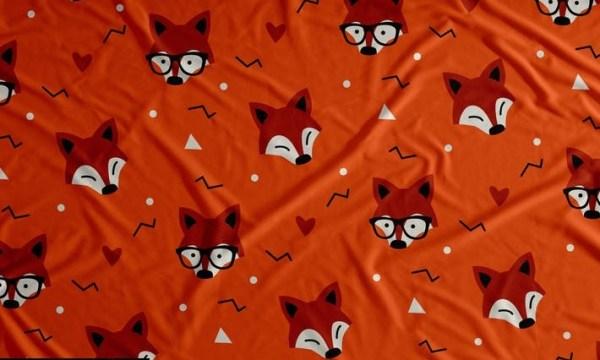 Cute Fox Seamless Pattern Background 6L8JQ8G