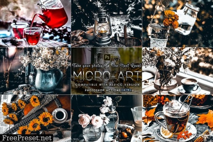 Micro-Art Photoshop Actions TF3TY9B