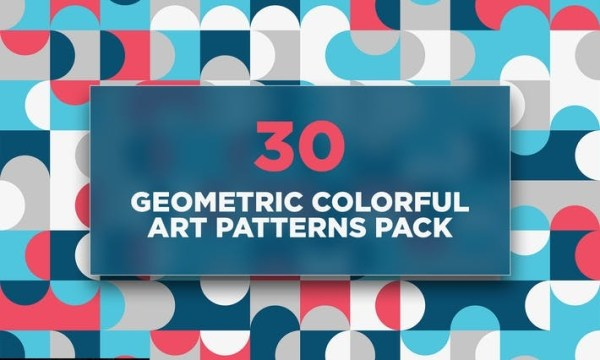 30 Geometric Colorful Art Patterns Pack