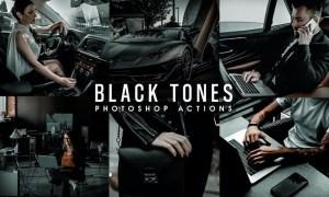 Black Tones Photoshop Actions JSHPSZ7