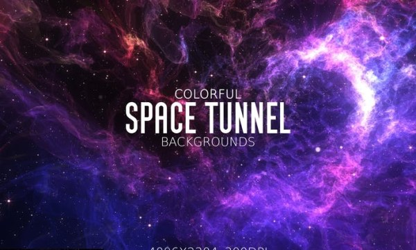 Colorful Space Tunnel Backgrounds 3SJ76SK