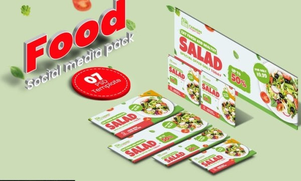 Food social media pack GPUM2T3
