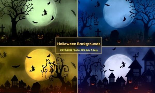 Halloween Haunted House Backgrounds 82BGFLB