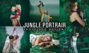 Jungle Portrait Photoshop Actions C4U88G6