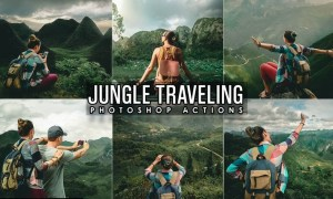 Jungle Traveling Photoshop Actions WA93E9Y