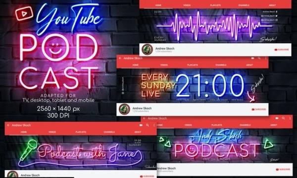 Neon Podcast - YouTube Channel Art G9KVA4Q